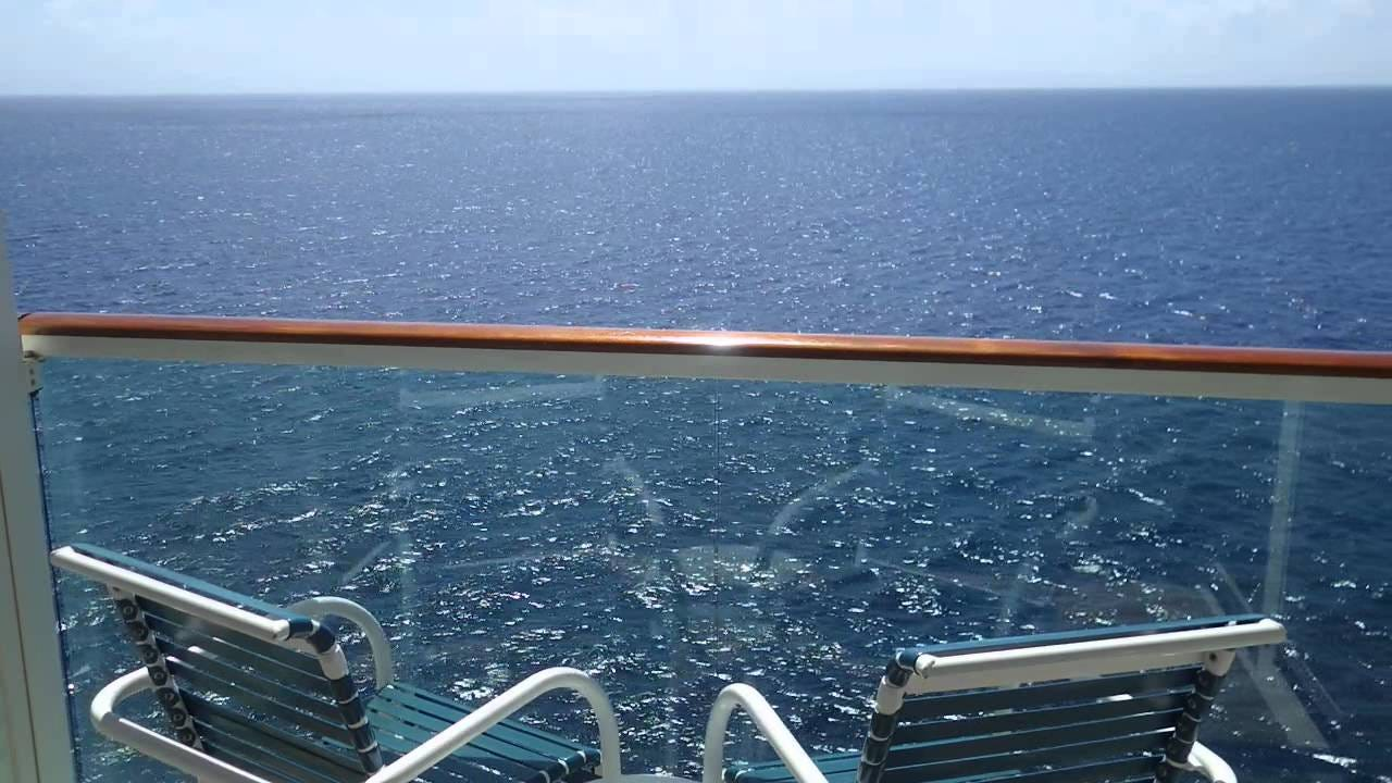 View from a cruise ship balcony 2 - YouTube