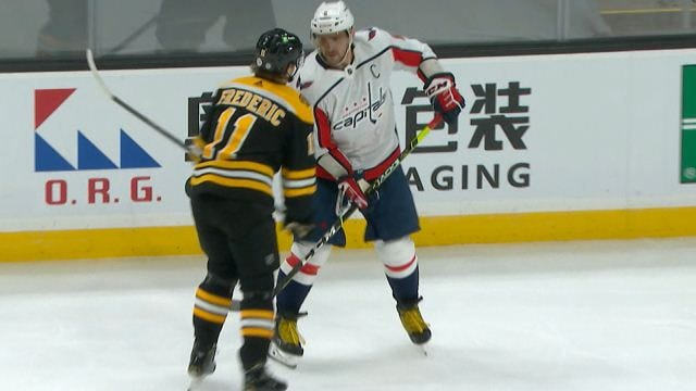 Alex Ovechkin fined $5,000 for spearing Bruins' Frederic