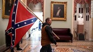 Confederate flag, during Civil War, never made it inside US Capitol -- but  a rioter carried one inside Wednesday - CNN