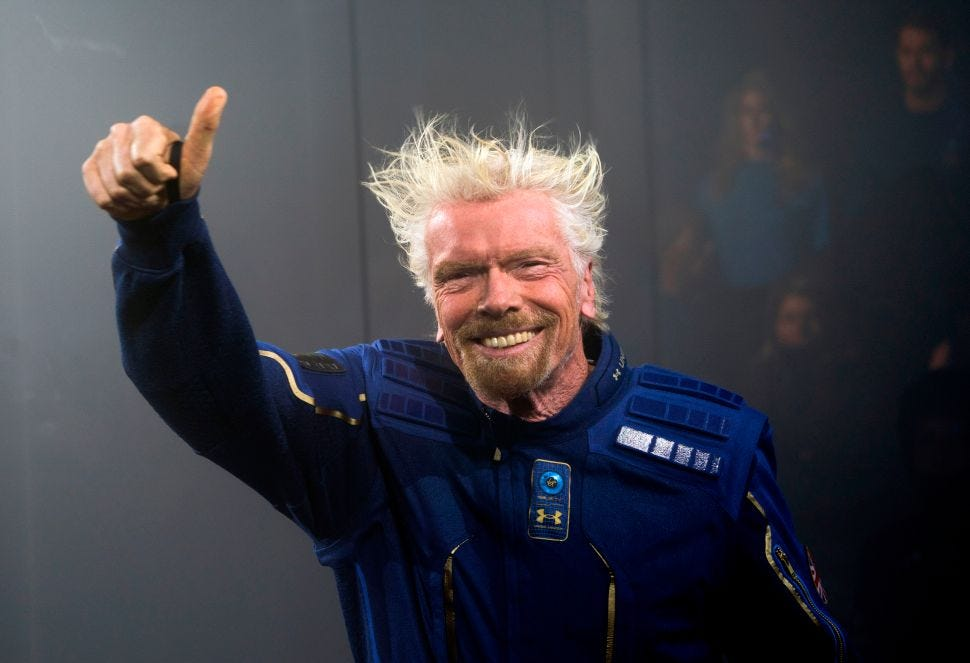 Richard testing for space travel and has funcky hair as a result
