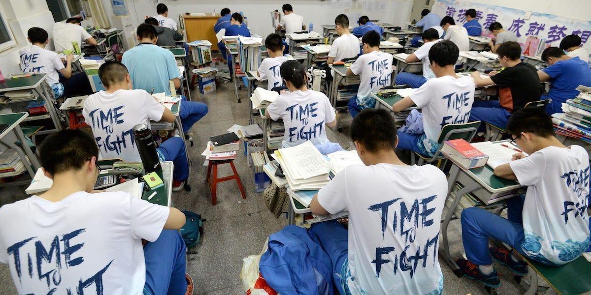 gaokao students