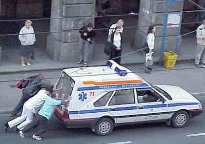 Ambulance Push | Funny Car Pictures | Entertainment