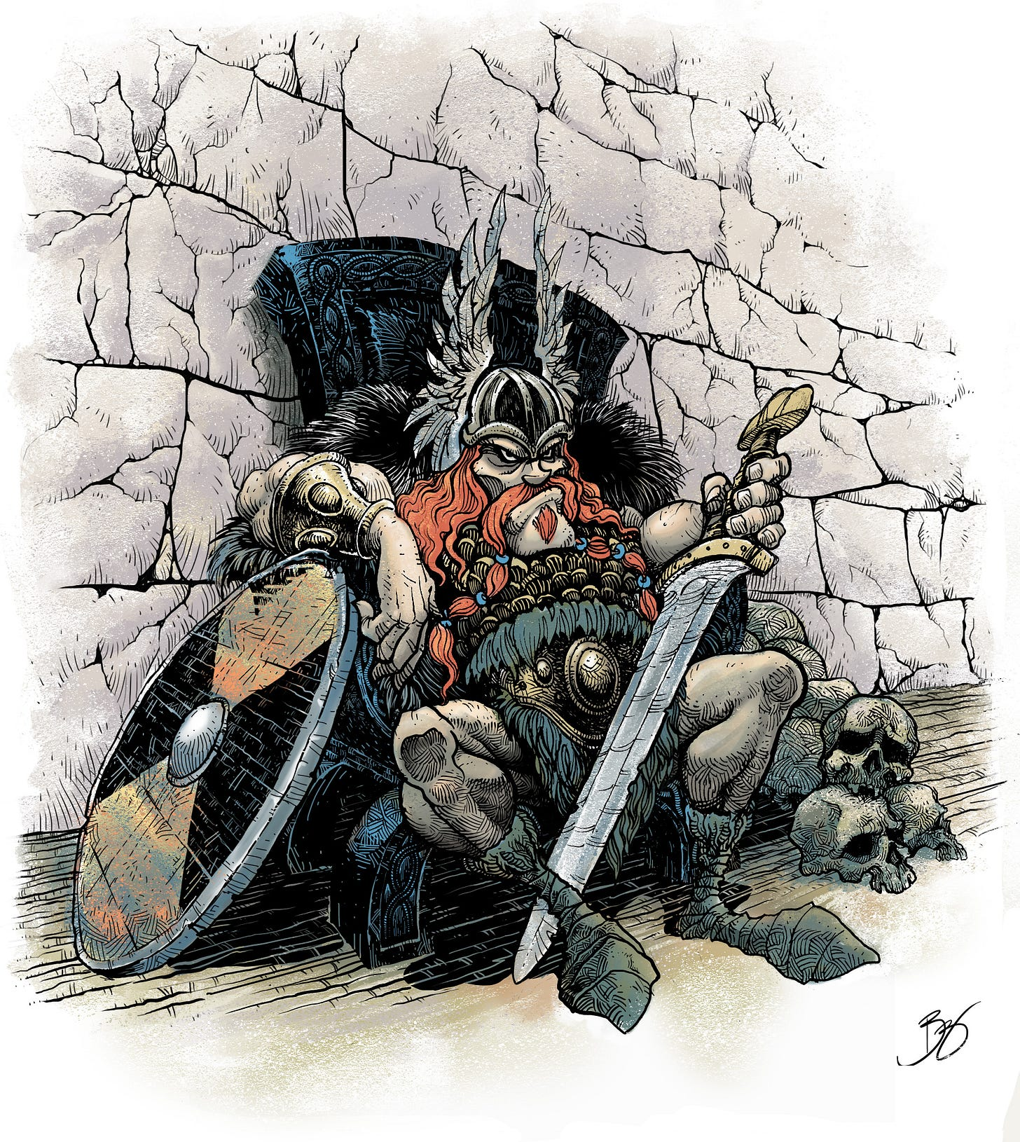 Viking Chieftain by BebetoDarOZ   Character Art   2D   CGSociety