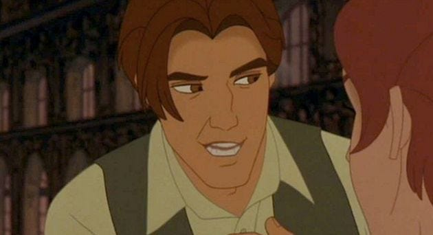 a screencap of the character Dmitri from the animated film Anastasia
