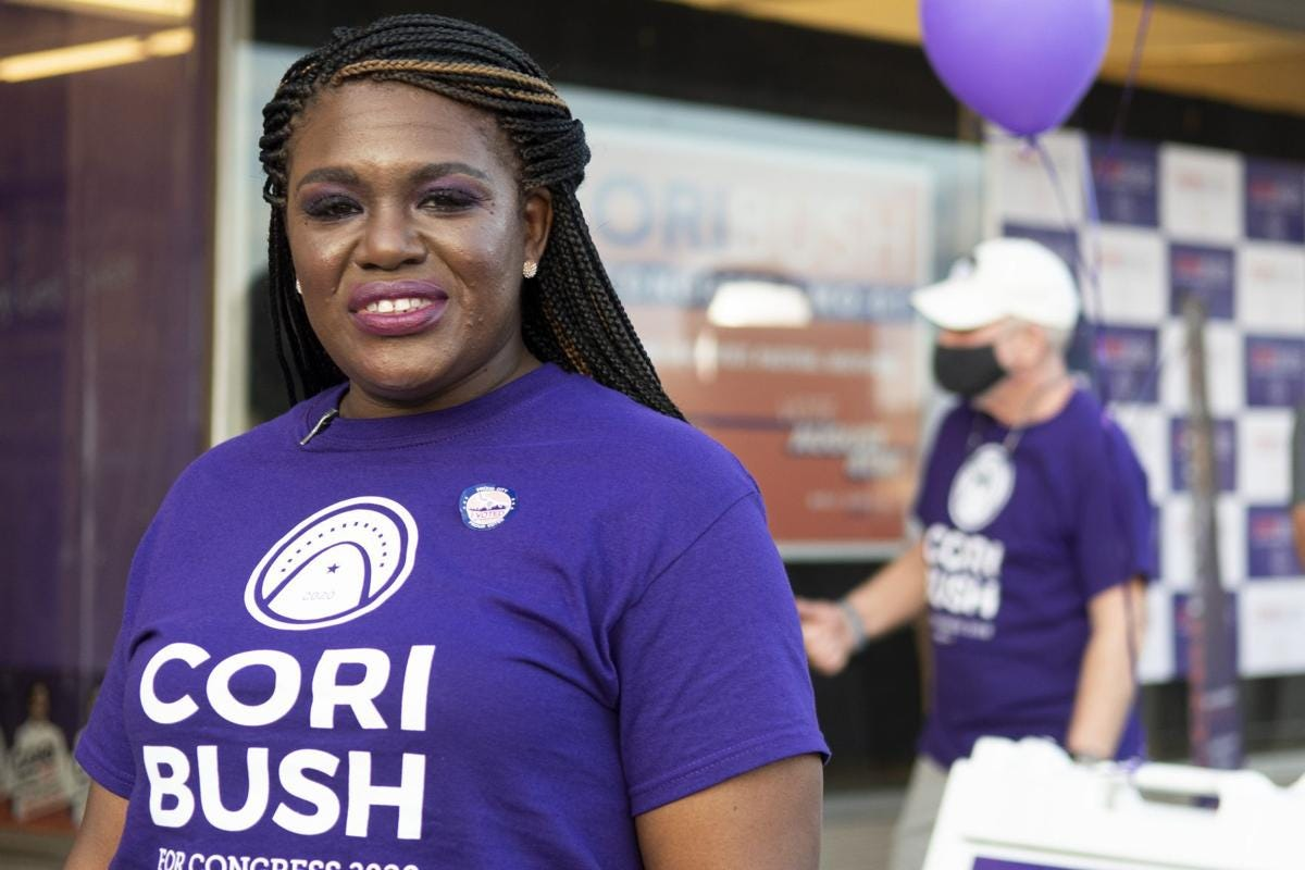 Cori Bush on election night