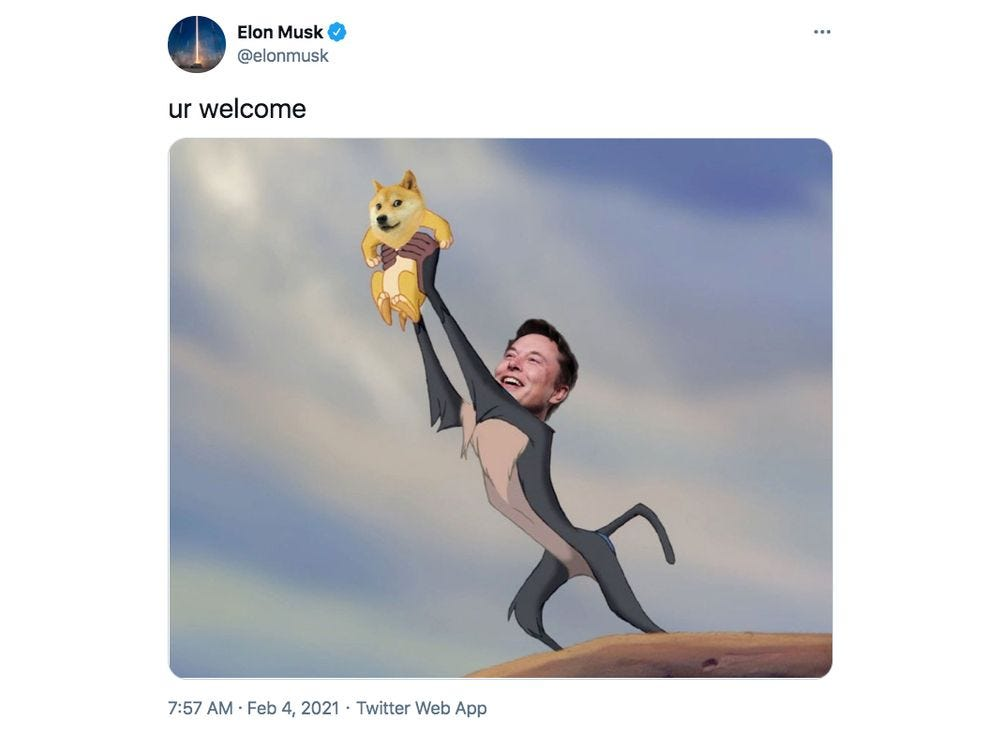 Elon Musk's Devotion to the Bitcoin (BTC USD) Cryptocurrency Price Over  Time - Bloomberg