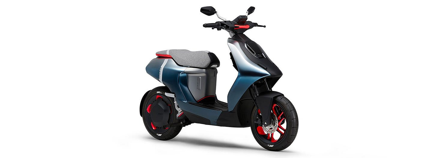 yamaha launches trio of battery-powered concepts including two city scooters