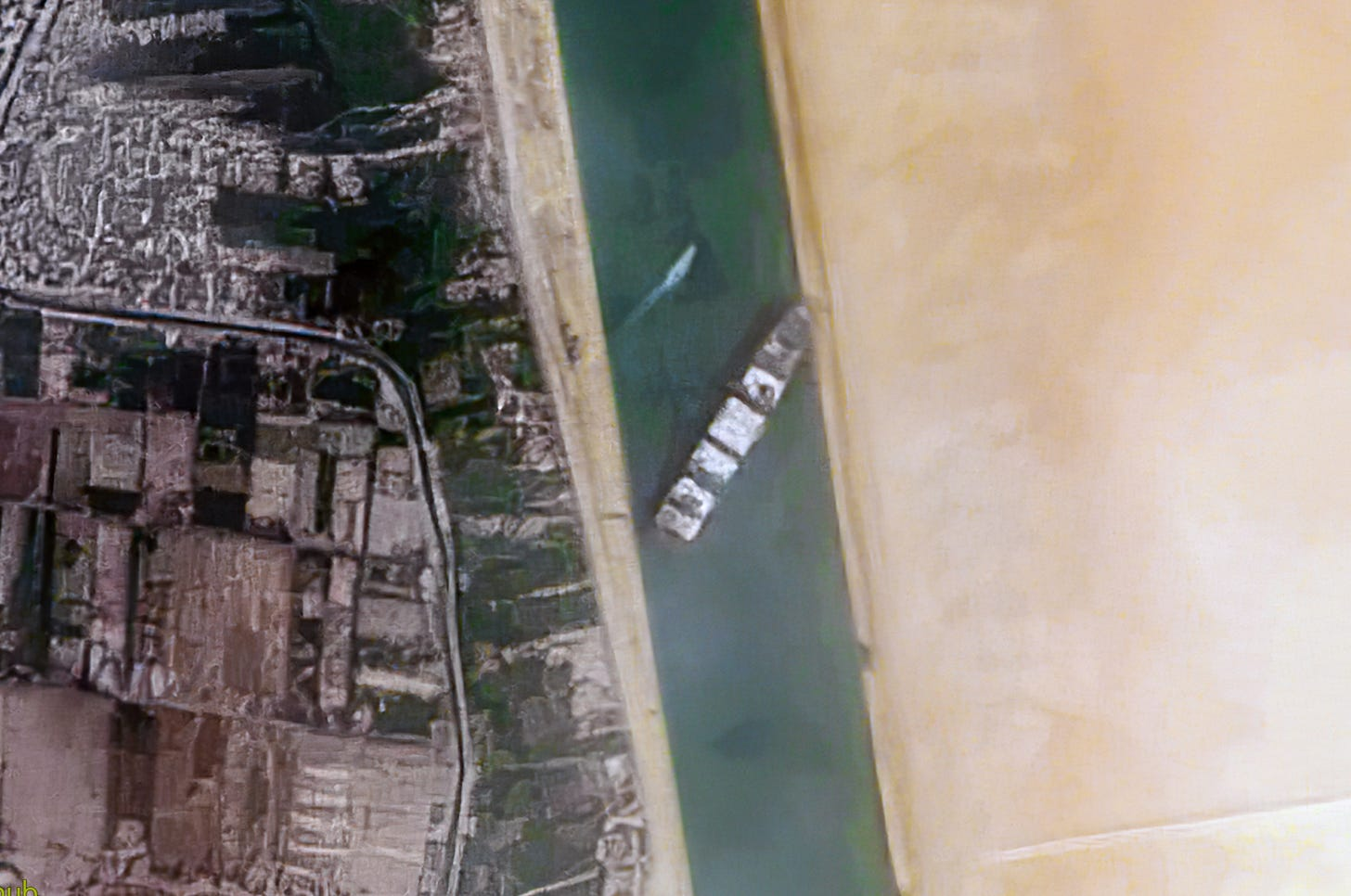 File:Container Ship 'Ever Given' stuck in the Suez Canal, Egypt - March  24th, 2021 cropped.jpg - Wikimedia Commons