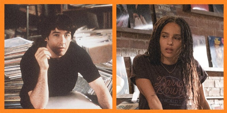 John Cusack and Zoë Kravitz