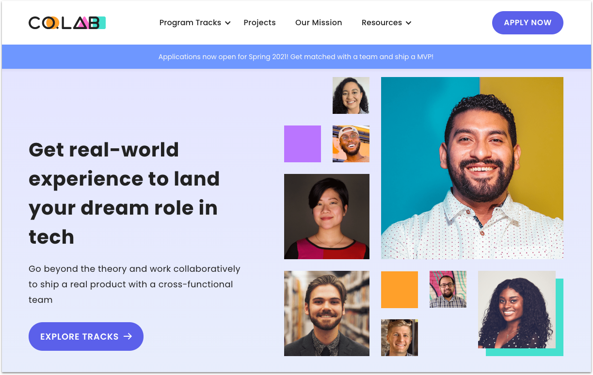 Co.Lab's homepage