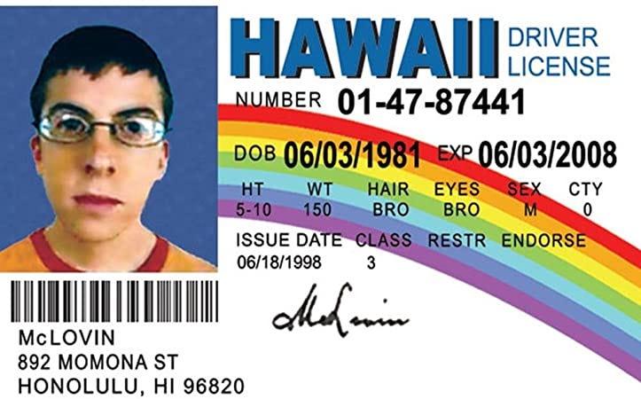 a fake drivers license