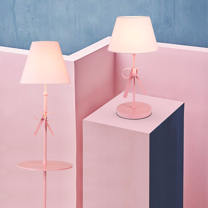pink floor lamp bowknot floor light girls room kids room lighting lovely lighting pink floor lamp for lady and girls
