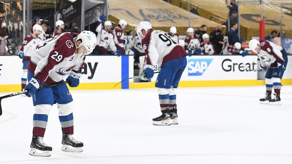 Avalanche lament playoff elimination in Game 6 after top regular season