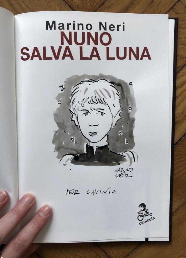 Nuno salva la luna con dedica di Marino Neri
