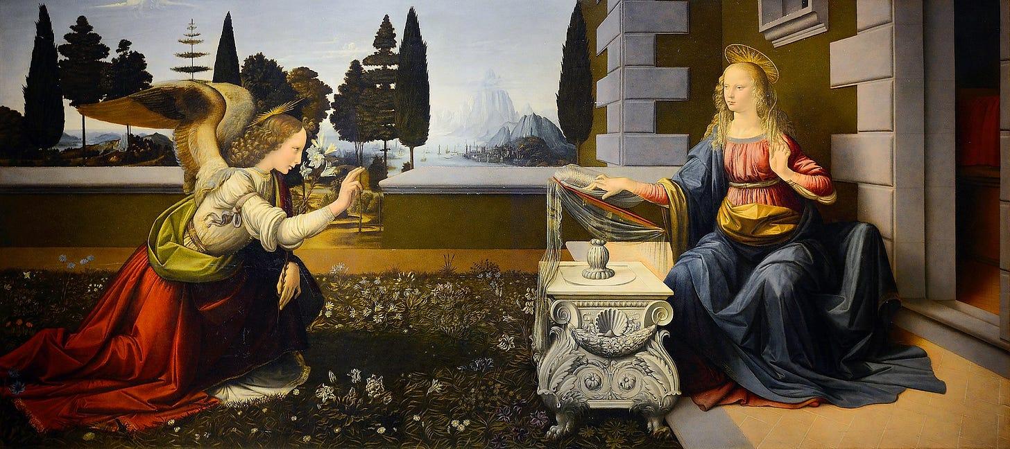 Annunciation (Leonardo) (cropped).jpg