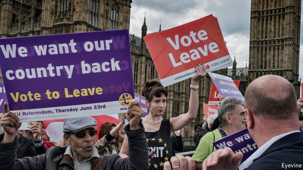 Refighting the referendum - Did Vote Leave cheat to win the Brexit  referendum? | Britain | The Economist