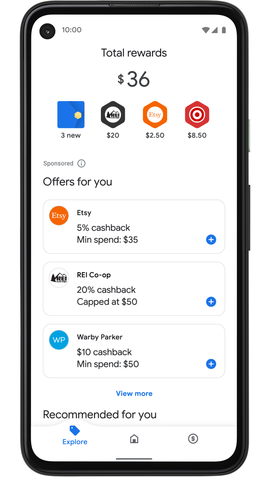 Cashback from Google Pay offers goes into a Google Pay account.