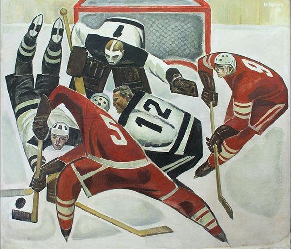 «Хокей» (1966, полотно, олія), Віктор Рижих, Україна ...
