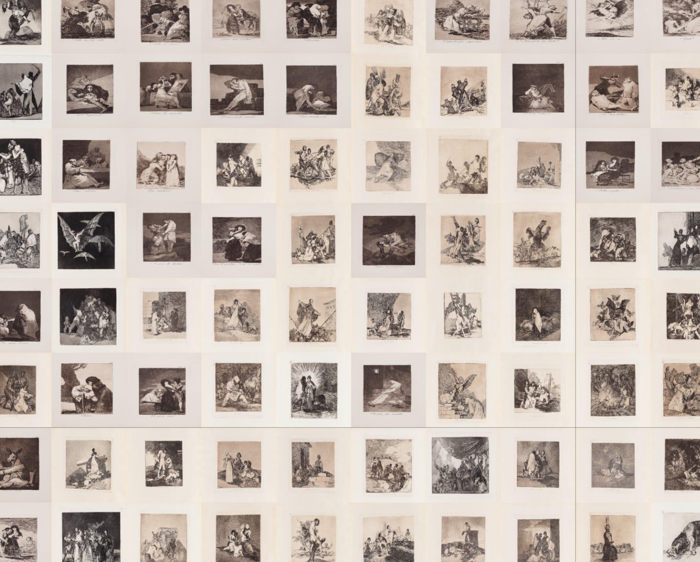 Original dataset of Goya's etching