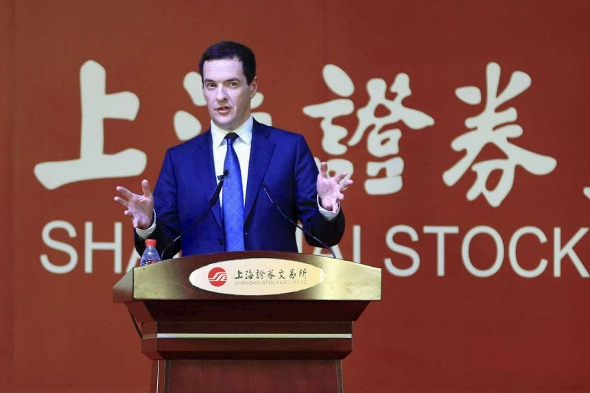 Britain's Finance Minister George Osborne opens bidding in China for  high-speed rail link, Europe News & Top Stories - The Straits Times