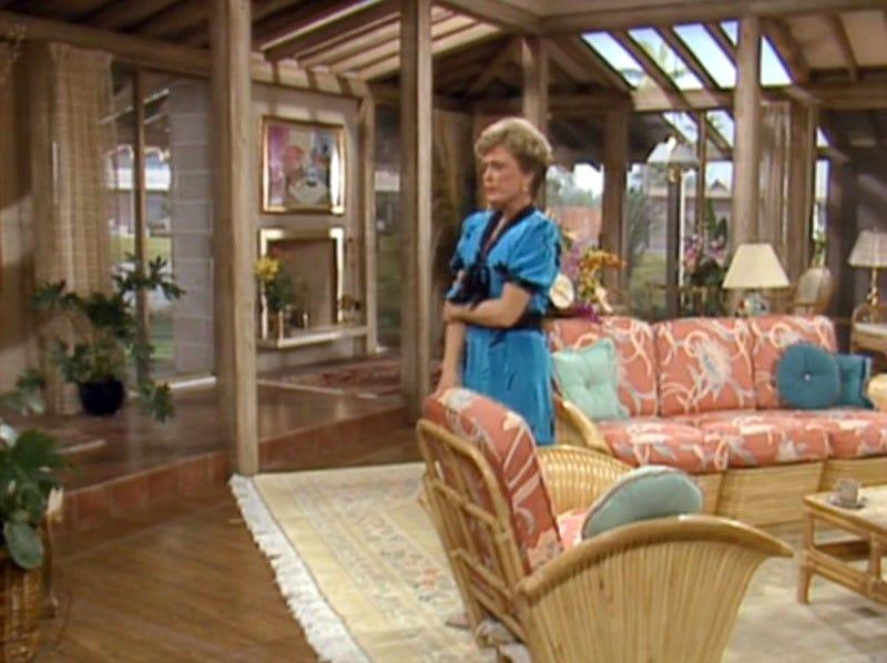Living Room Set on Golden Girls Blanche