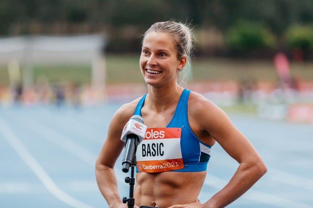 Hana Basic is headed to Tokyo. Sourced: Athletics Australia