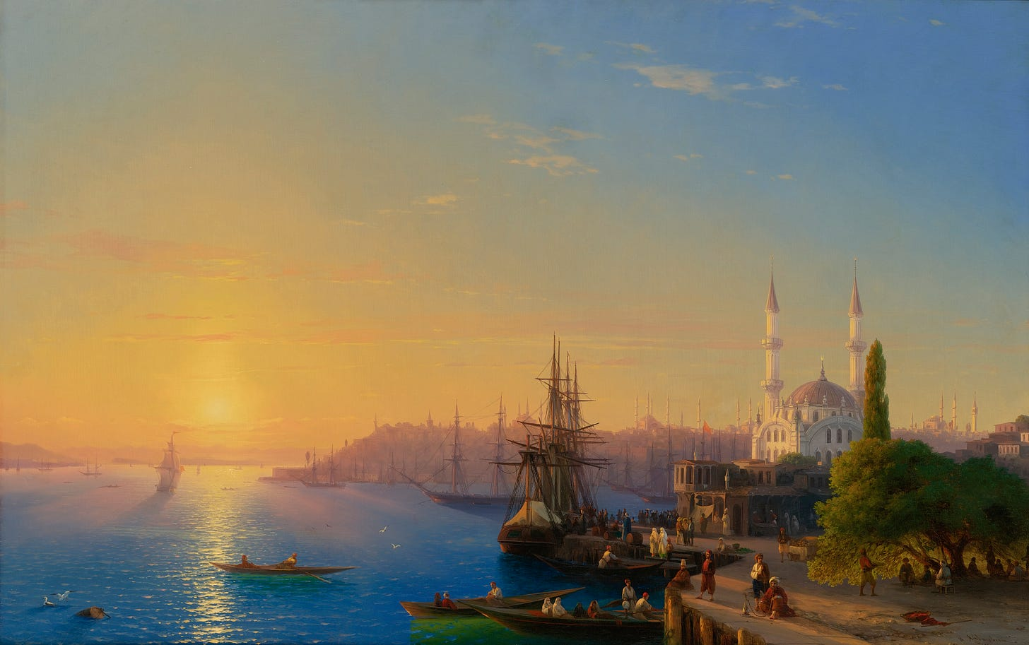 File:Aivazovsky - View of Constantinople and the Bosphorus.jpg - Wikimedia  Commons