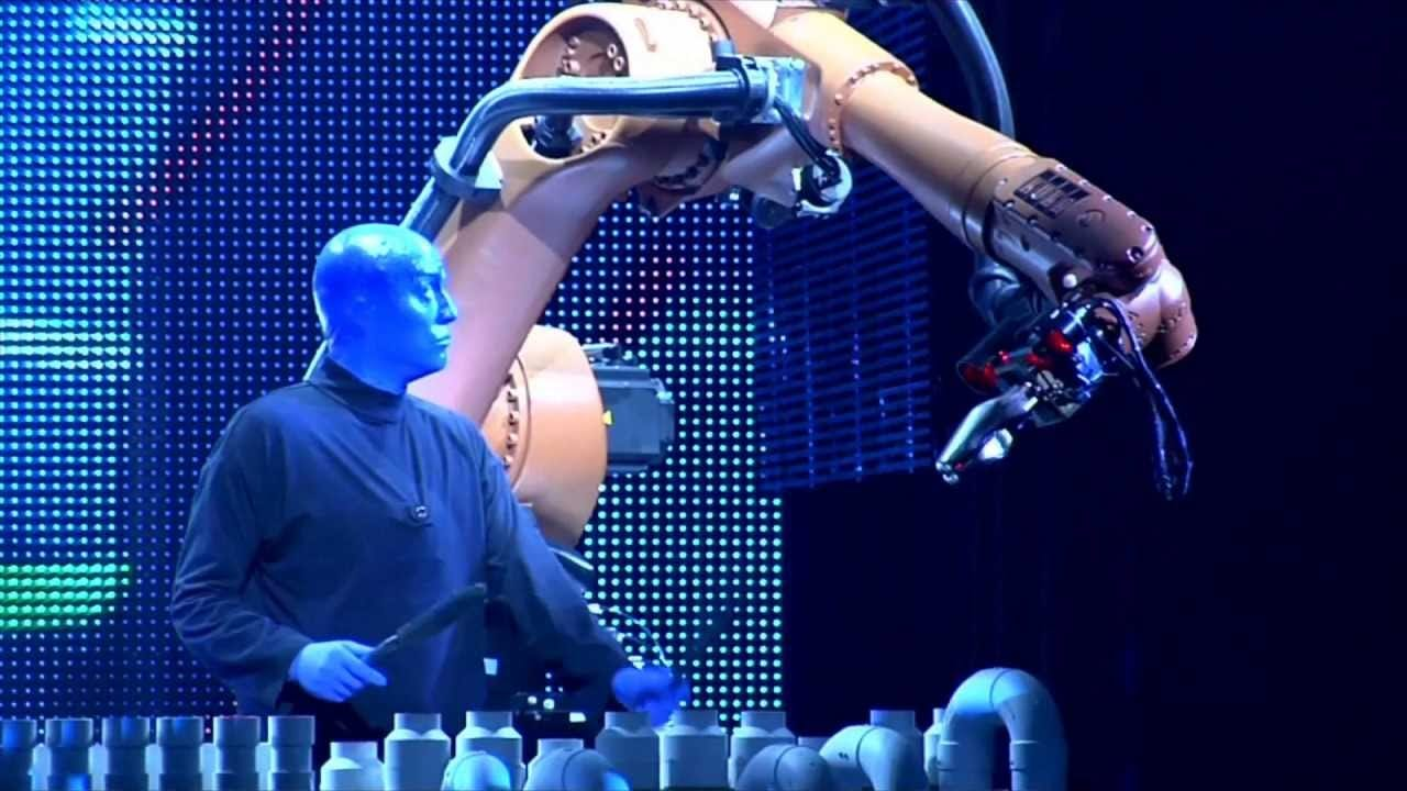 Blue Man Group and KUKA Industrial Robots for Factory Automation - YouTube