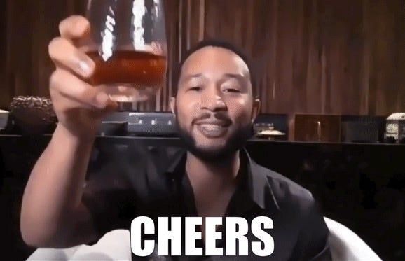John Legend says cheers!