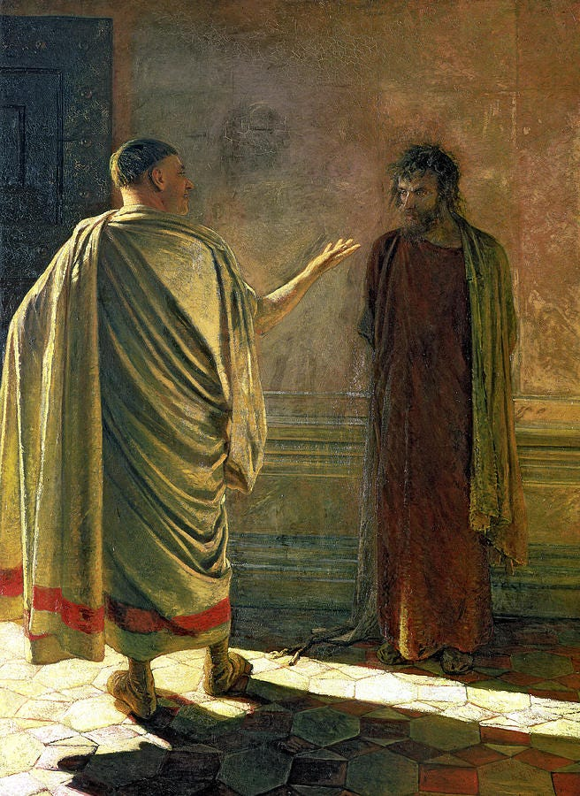 Image result for pilate and jesus painting