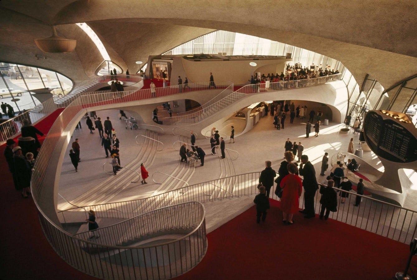 TWA Flight Centre, New York by Eero Saarinen
