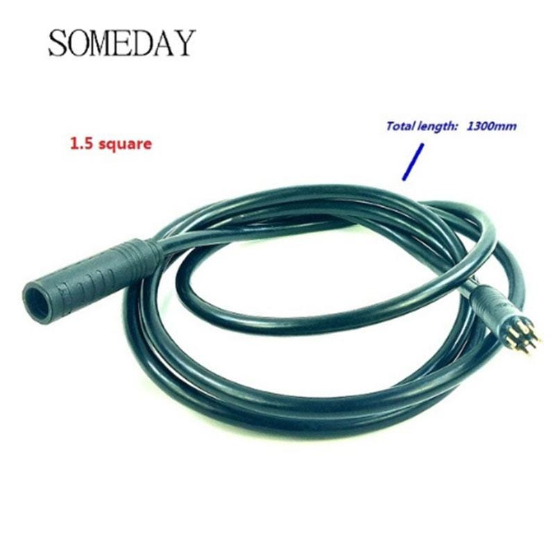 SOMEDAY electric bicycle 1.5 squar motor extension waterproof cable 1.6m/1.3m/0.6m for 9 pin joint e-bike conversion kit