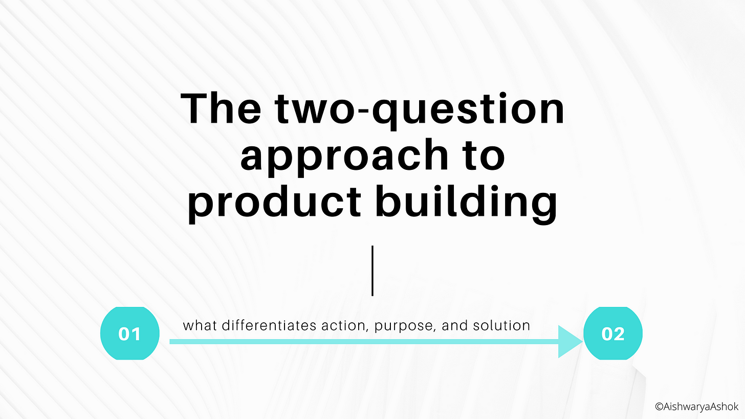 The two-question approach to product building