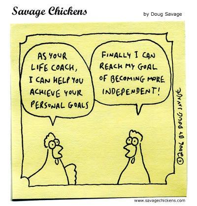 Life Coach Cartoon   Savage Chickens - Cartoons on Sticky ...