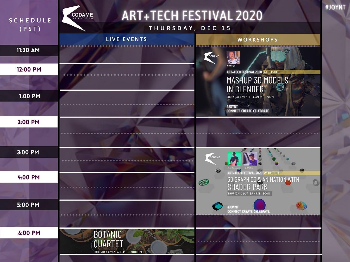 DAY 7: ART+TECH Festival 2020『 JOYNT 』