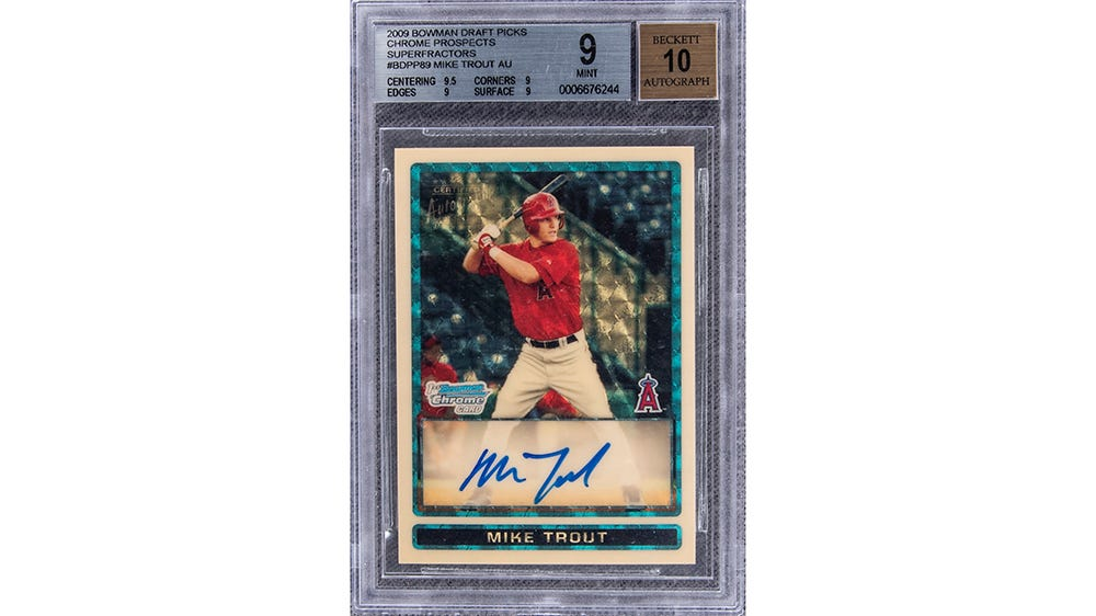 Mike Trout's $3.9M Rookie Card Becomes the Most Expensive of All Time –  Robb Report
