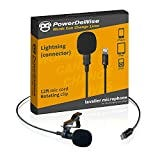 Professional Grade External Lavalier Microphone for iPhone iPad iPod - Lapel Omnidirectional Condenser Mic Phone Audio Video Recording Portable Clip-on for Vlogging, YouTube, Interview, Tiktok (12ft)