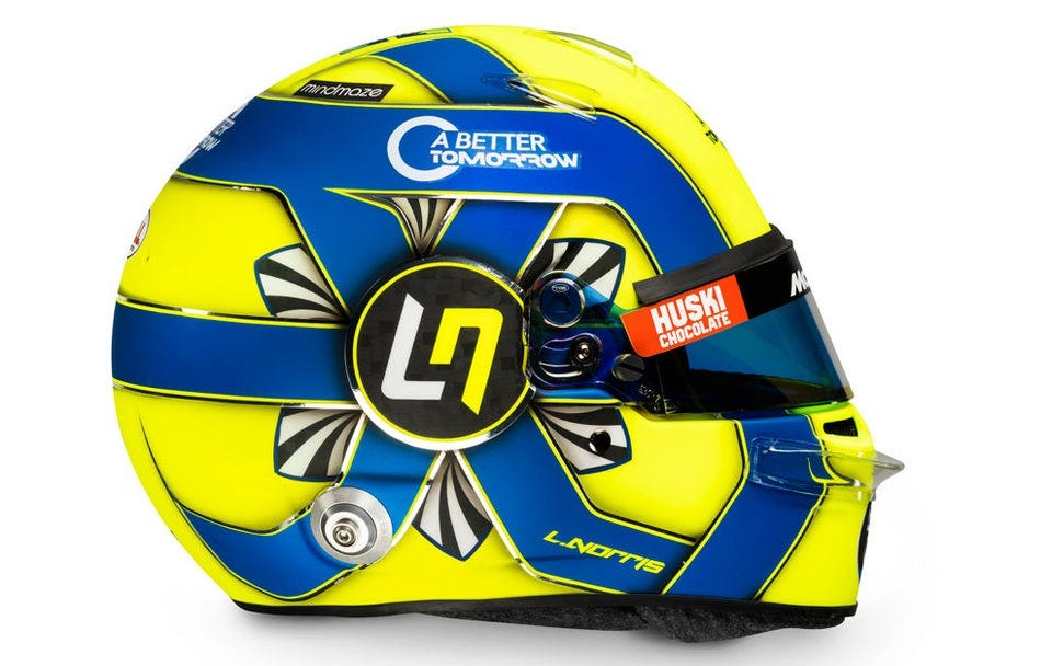 r/formula1 - Helmet of Lando Norris for 2020 season