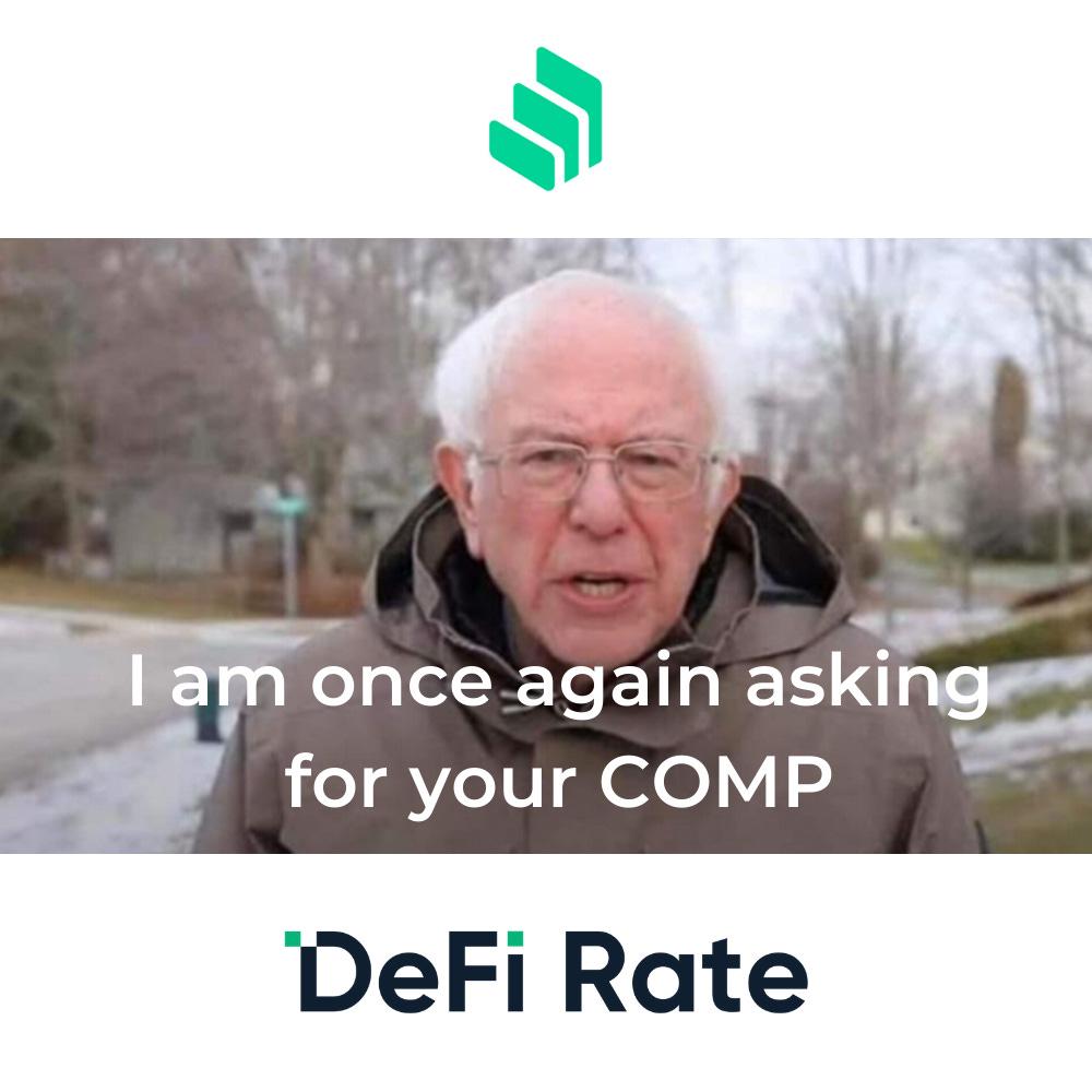 Compound Governance Bid - DeFi Rate COMP Delegation Proposal