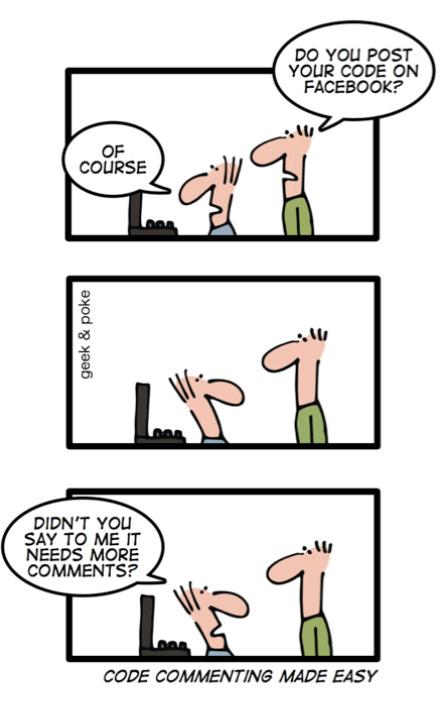 Code commenting made easy : ProgrammerHumor