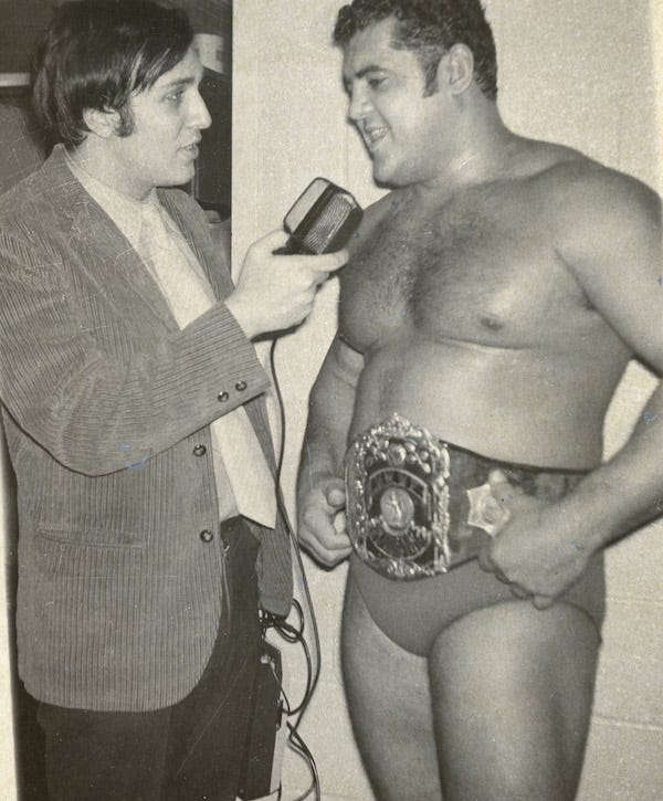 Bill Apter with Pedro Morales in 1971