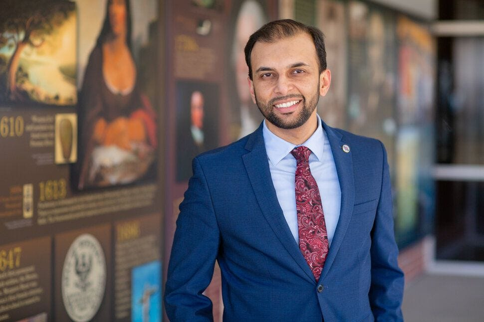 """Qasim Rashid, a Virginia state Senate candidate, said the attacks don't deter him from running for office. """"In fact, [they] e"""