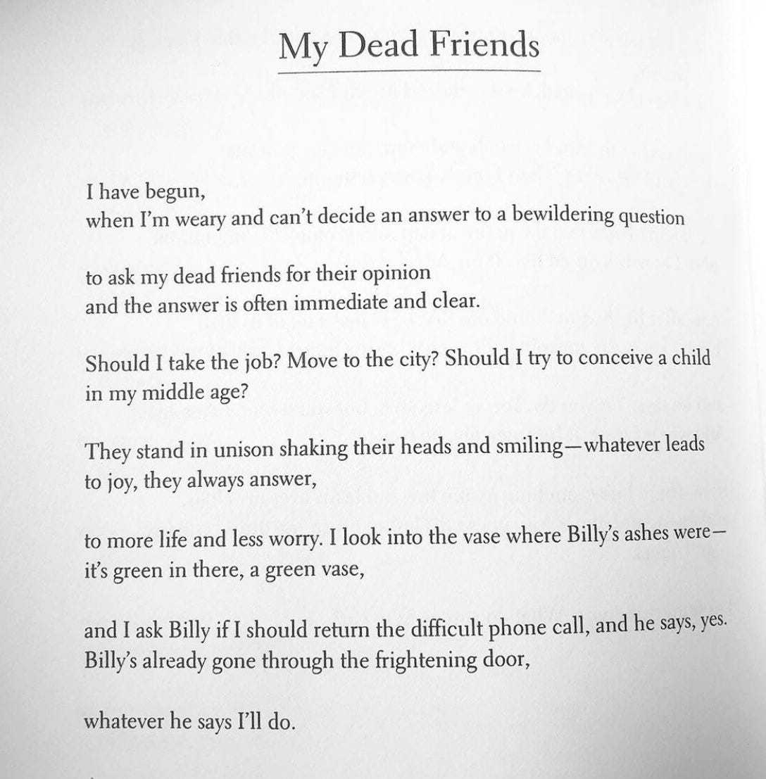 Image result for marie howe my dead friends
