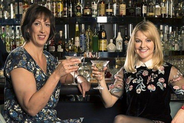 Miranda Hart and Sally Phillips (BBC)