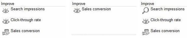 eBay Listing Quality Report Icons