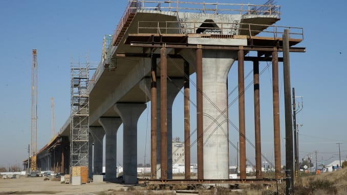 Image result for california high speed rail section