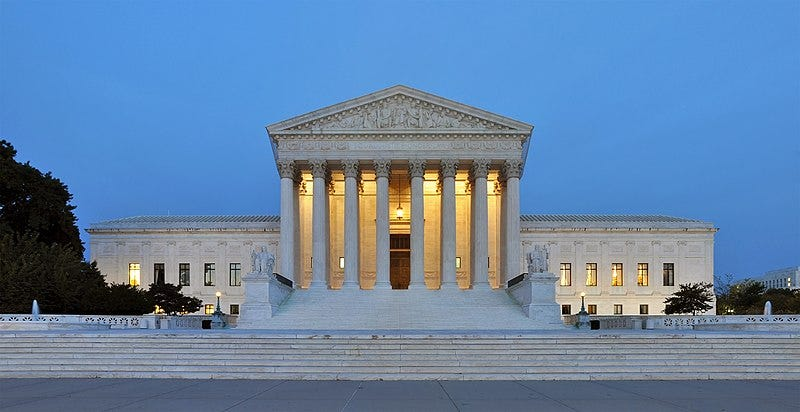 File:Panorama of United States Supreme Court Building at Dusk.jpg