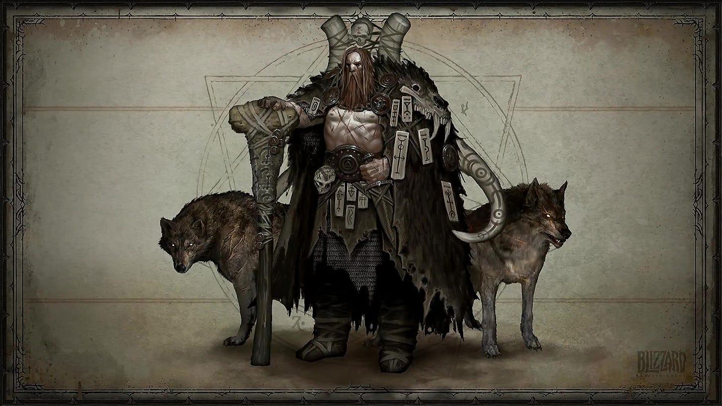 Diablo 4 druid concept art