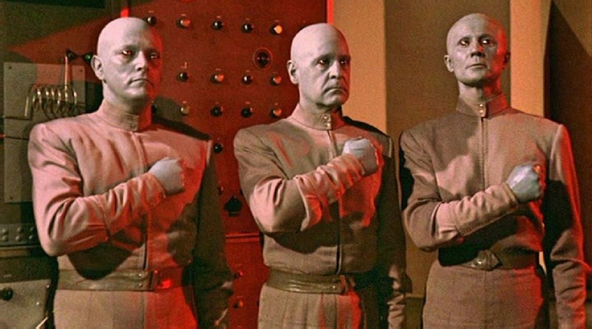 The Clickers plot rebellion in The Creation of the Humanoids (1962)