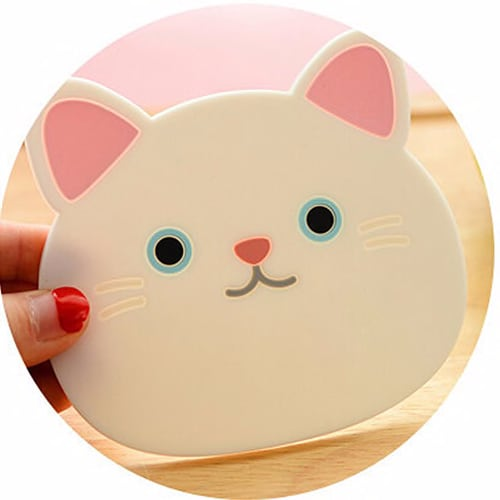 2019 Cute Silicone Cat Dining Table Placemat Coaster Kitchen Accessories Mat Cup Bar Mug Cartoon Animal Drink Pads